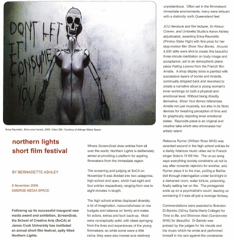 Review of the Northern Lights Film Festival (Art Gaze Magazine, 2011)
