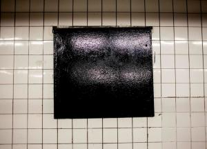 Tiles - White with Black Square