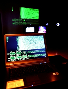 Screengrab1 :: Mathew Randall (2009) Digital Harmonograph (Exhibition Documentation)